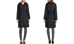 Cole Haan Women's Zip Front Down Coat - Black - Size: Medium