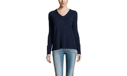 Sweet Romeo Women's Lauren Seam Detail Sweater - Midnight - Size: Large