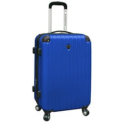 Blue - Travelers Club Luggage Chicago 24   Hardside Expandable Spinner