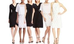 R&M Richards Lace Blousson Cocktail Dress - Lavender - 14