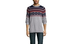 We Sc Men's Jaque Fair Isle Sweater - Winter White - Size: Small