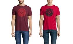 Ben Sherman Men's Button Logo T-Shirt - Dawn Red - Size: Small