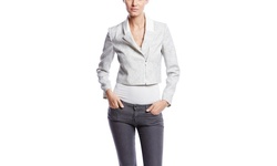 1.state Women's Long Sleeve Tweed Moto Jacket - New Ivory - Size: XSmall
