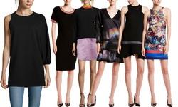 Cynthia Rowley Sleeveless Multi Print Silk Blend Woven Dress