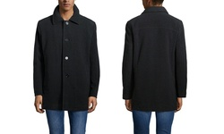 Cole Haan Single Pocket Car Coat - Charcoal - Size: Large