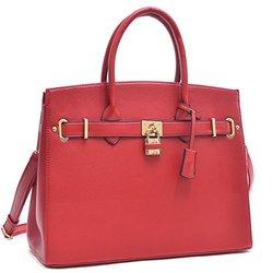 Rachel 1988 Large Satchel Handbag - Red