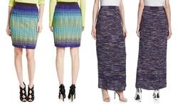 M Missoni Girl's Knit Pencil Skirt - Blue/Green - Size: 44