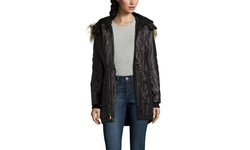 French Girls's Coated Parka - Turtle - Size: Small