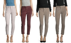 Free People Women's Stretch High-Rise Skinny Cords - Gray - Size:4