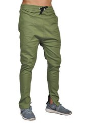 Dirty Robbers Fashion Joggers Zipper Bottom - Olive - Size: 36