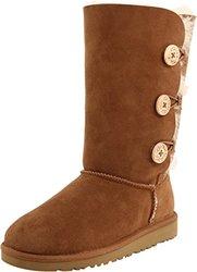 UGG Australia Girls' Bailey Sheepskin Fashion Boot - Chestnut - Size: 6M