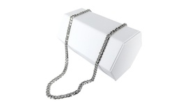 "Men's 24"" Cuban Chain Necklace in Stainless Steel"