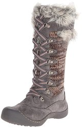 Muk Luks Women's Gwen Tall Lace Up Snow Boot - Grey Marl - Size: 9 M