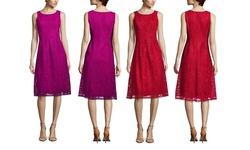 Nine West Women's Sleeveless Crochet Lace Dress - Gypsy - Size: 12