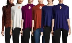 Catherine Malandrino Women's Short Sleeve Knit Sweater - Ivory - Size: XS