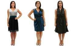 SL Fashions Women's Wear Now Dress - Black/White - Size: 12