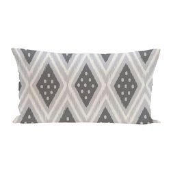 E By Design Ikat Dot Geometric Print Outdoor Seat Cushion - Steel Gray