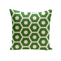 E By Design Geometric Decorative Outdoor Seat Cushion - Leaf