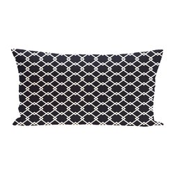 E By Design Link Lock Geometric Print Outdoor Seat Cushion - Bewitching