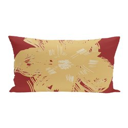 E By Design Floral Polyester Outdoor Seat Cushion - Buddha Emperor