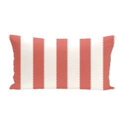 E By Design Stitch In Time Stripes Print Outdoor Seat Cushion - Seed