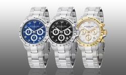 Stuhrling Original Men's Chronograph Bracelet Watch - White Dial