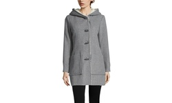 Jessica Simpson Women's Twill Wool Jacket with Faux - Gray - Size: Medium