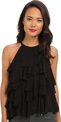French Connection Women's Fast French Frou Frou Top - Black - Size: 4