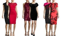 Sable & Zoe Women's Sleeveless Sequin Cocktail Dress - Burgundy - Size: XS