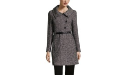 Soia & Kyo Women's Long Wool Coat with Belted - Black - Size: S