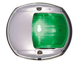 LED Green Side Navigation Light (Chrome)