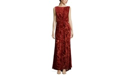 Tadashi Shoji Long Sleeve Cinched Gown - Black - Size: 8