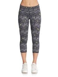Calvin Klein Women's Geo Print Cropped Leggings - Multi - Size: Small