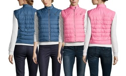 Prada Linea Rossa Puff Vest: Pink/Blue - 12