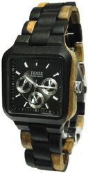 Tense Men's Hypoallergenic Watch - Maple Wood/Black