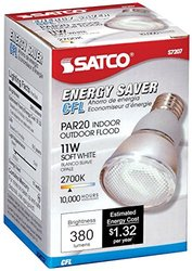 Satco S7207 11W PAR20 Screw-In 2700K fluorescent bulb