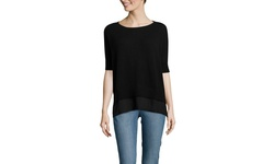 Christopher Fischer Women's Chiffon Ruana Sweater - Teal - Size: XS/S
