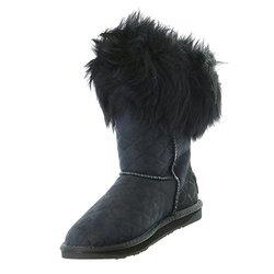 Australia Luxe Women's Foxy Shearling Short Boots - Black - Size: 9.5