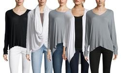 Sen Women's Long Sleeve Portia Top - Slate - Size: 3