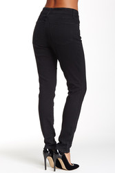 NYDJ 'Ami' Stretch Skinny Moto Jeans - Black - Size: 8p