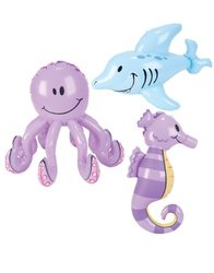 Inflatable Sea Creatures - Pool Party Decorations (1 dz)