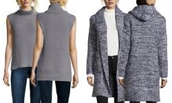 Lucca Sleeveless Turtleneck Sweater - Gray - Size: Medium