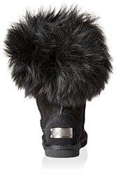 Australia Luxe Women's Foxy Shearling Short Boots - Black - Size: 8.5