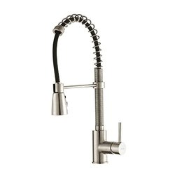 Kraus 1-Handle Pull-Down Faucet with 3-Function Sprayer - Stainless Steel