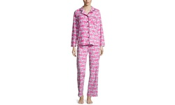 Rene Rofe Women's Pajama Set - Pink - Size: Medium