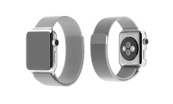 Tribeca Milanese Mesh With Magnet Closure Band For Apple Watch - Silver