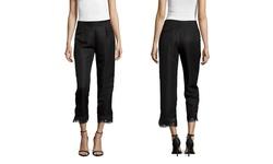English Factory Pant with Lace Bottom - Black  - Size: Medium