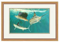 Guy Harvey Grand Slam Framed Mini Art - 13X16