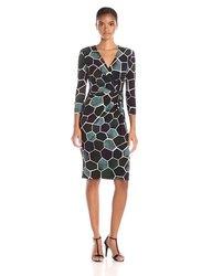 Anne Klein Women's Printed Jersey Draped Dress - Phoenix Combo - Size: 4