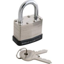 "Shield Security 1-1/2"" Keyed Alike Steel Laminated Padlock"